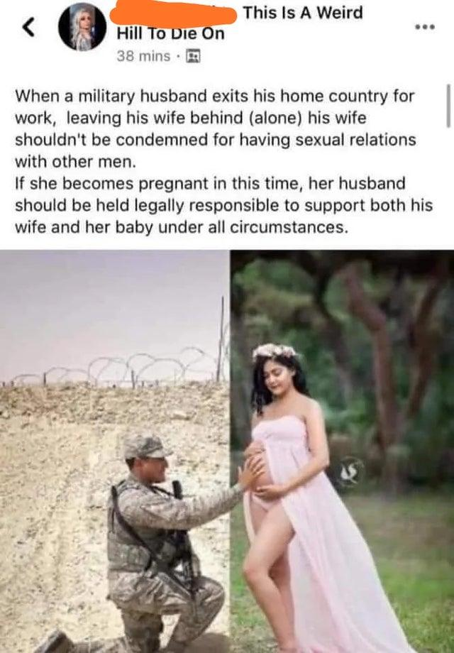 Should military wives/husbands who cheat go unpunished?