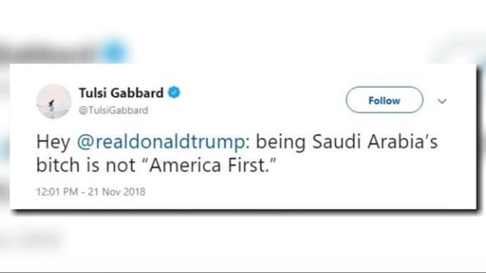 If Trump is such a strong alpha man, why the heck he is a little bitch boy for Saudi Arabia?