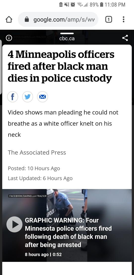 4 Police Officers fired 4 killing innocent man?