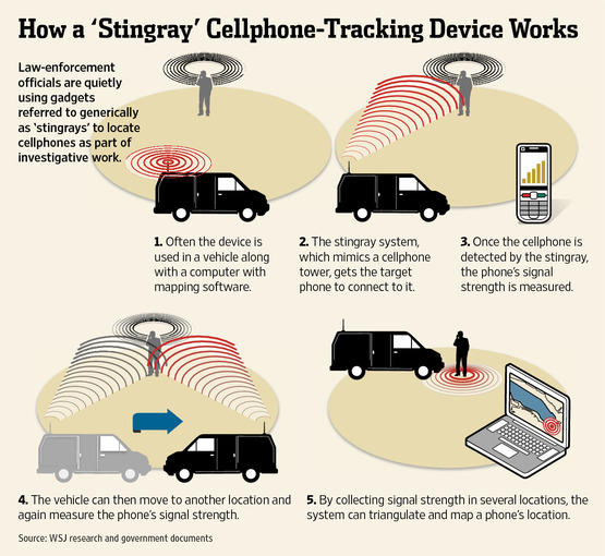 Stingray surveillance device
