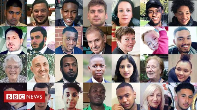 Victims of knife crime