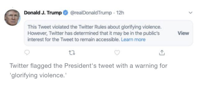 Does anybody know what the president tweeted?