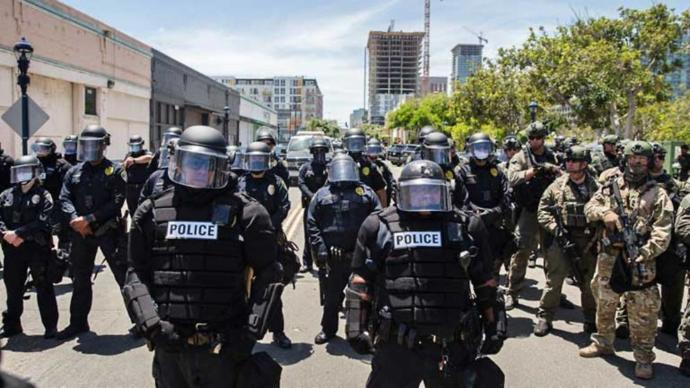 Do you think that they are planning to overthrow the government and turn this country into a police state?