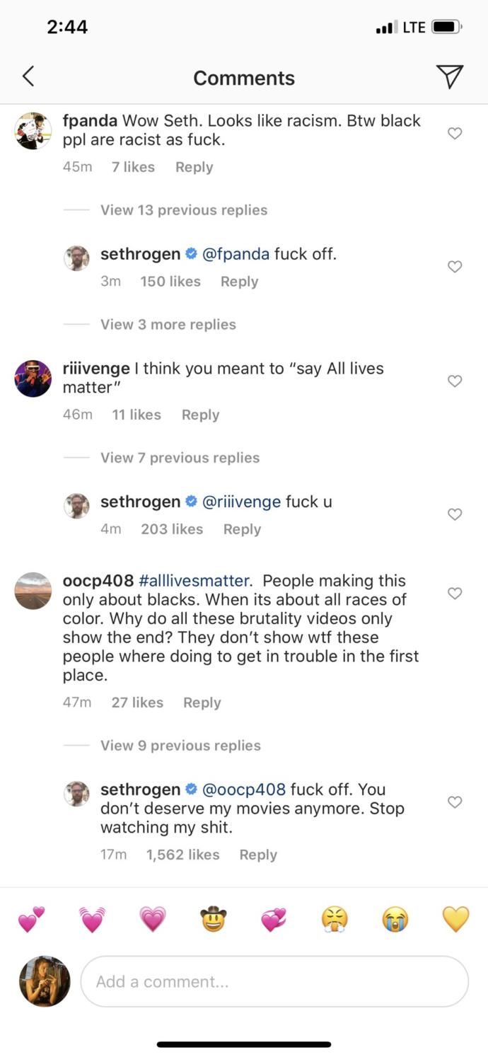 Don't you think Seth Rogen's responses are just hilarious?