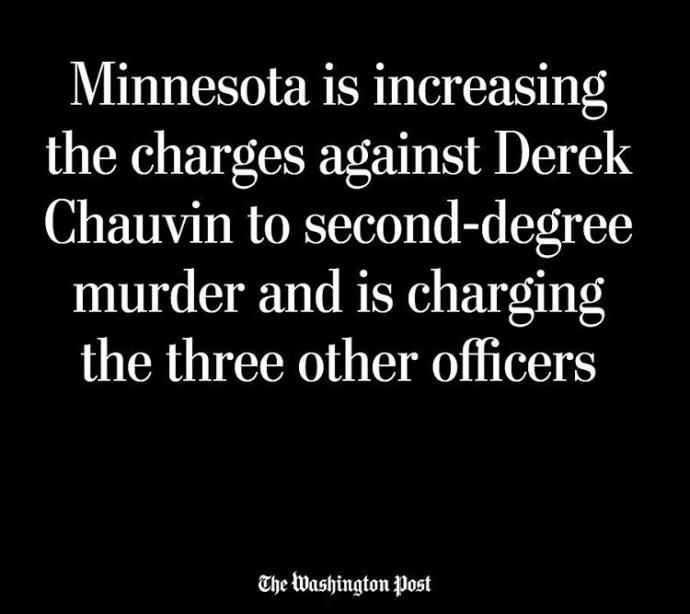 Derek Chauvin has been charged with 2nd Degree murder, do you think that's fair? Why or why not?