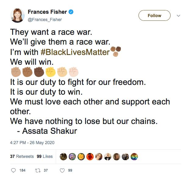 Why would a Jewish actress call for a race war with white people?