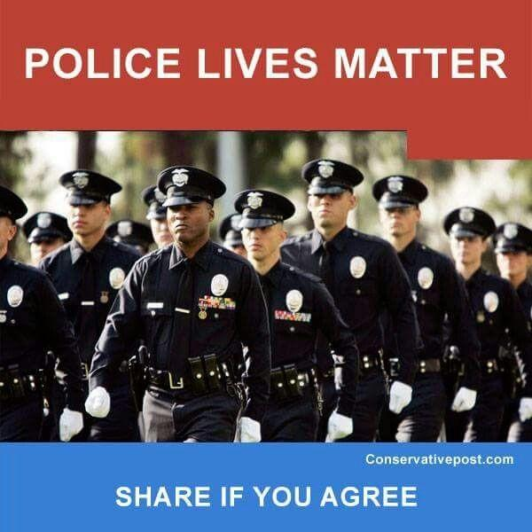 Whats your opinion on this whole blue lives matter too movement?