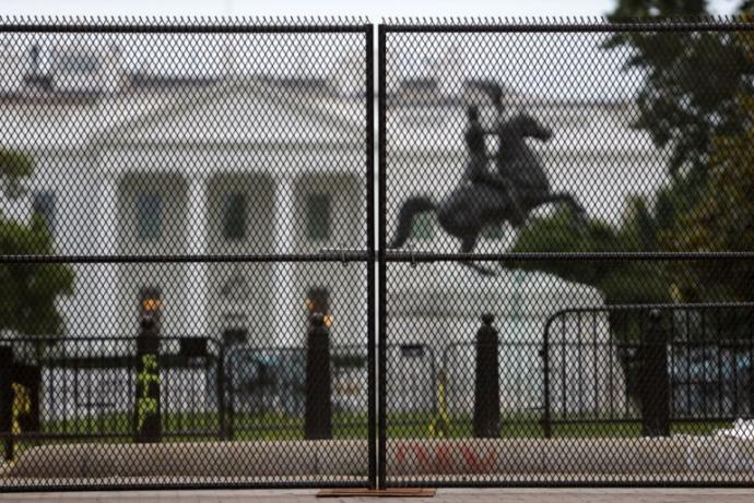 Since Trump is afraid of peaceful protesters, did Mexico pay for the new fence he put up around the White House?