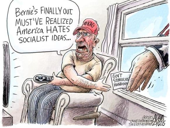 Are Trump MAGAs hypocrites for them accepting socialism with the stimulus checks and programs?