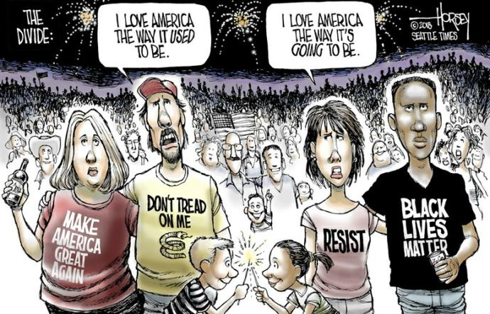 What will be the effect that #blacklivesmatter on the U. S. Holiday the Fourth of July?