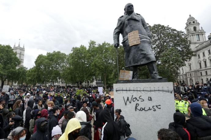 As his statue has been defaced in the UK, what is your opinion of Winston Churchill. Is it positive or negative?