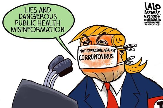 Why is Trump pretending Covid19 is over while infections and hospitalizations are spiking way up in his own red states?