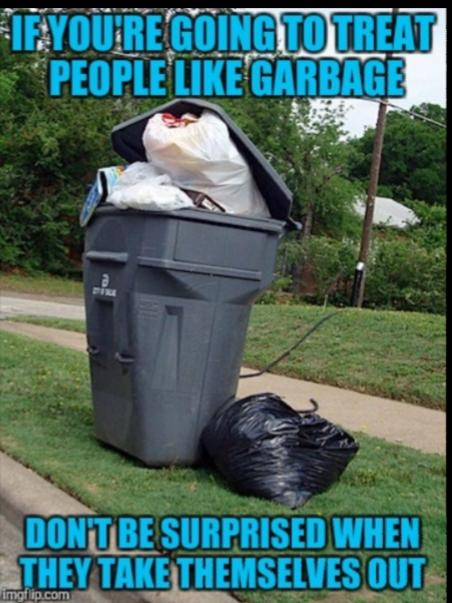Why Do People Treat People/Relationships Like Throwing Away Yesterdays Trash?
