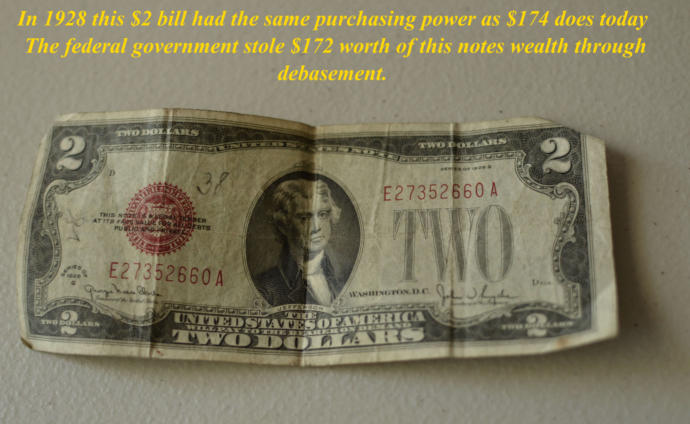 Paper notes do not store purchasing power