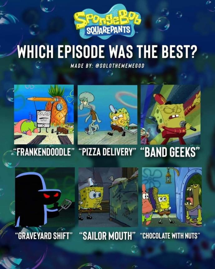 What is your favorite Spongebob episode and character?