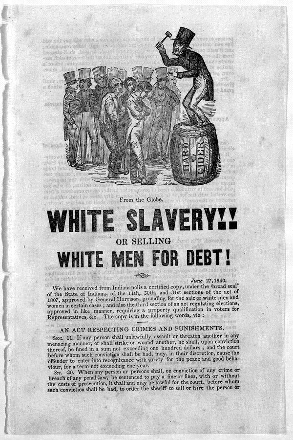 Did you whites were the first slaves in the USA?