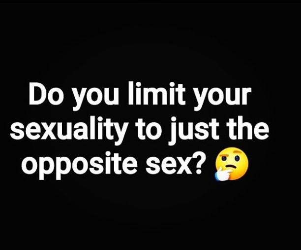 Are you really 100% straight as you claim to be🤔?