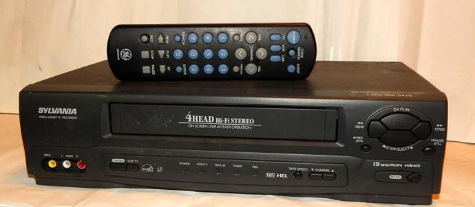 VHS Tape deck of the early 2000s