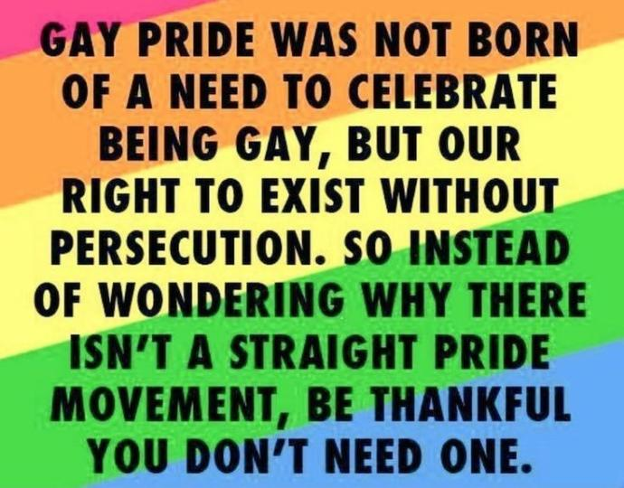 Do you think that there should be a straight pride?