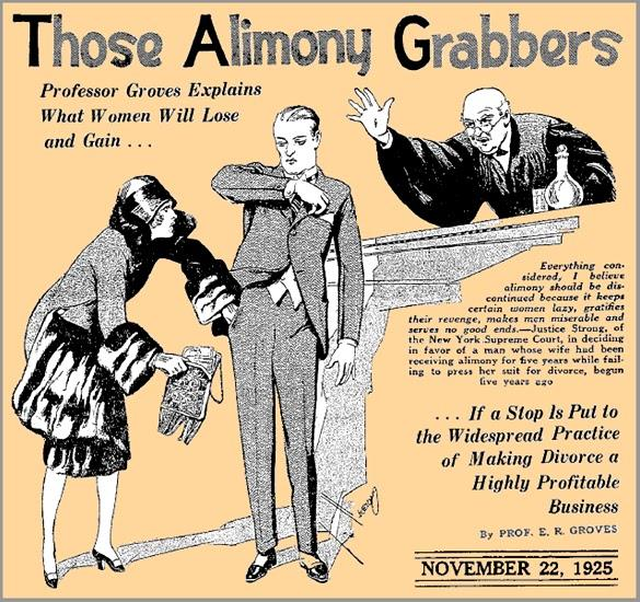 Should Spousal Support (alimony) be eliminated for divorcing spouses because its based on patriarchal notions?