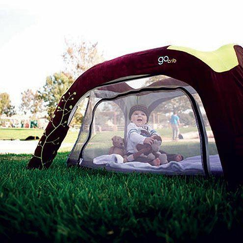 What do you think about outdoor baby cribs or a baby tent?