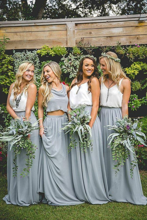 Which bridesmaid dress option looks the most interesting?