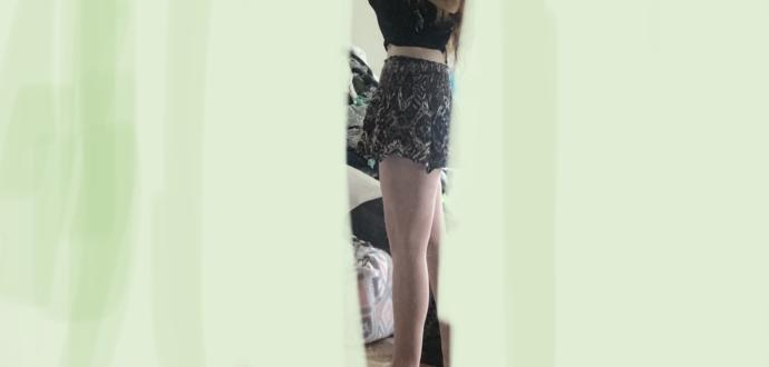 Is this skirt too short (swim shorts underneath) it shrunk. Used to be Down to lower mid thigh. I like it so I haven't tossed it - yet 🤔🤷♀️?