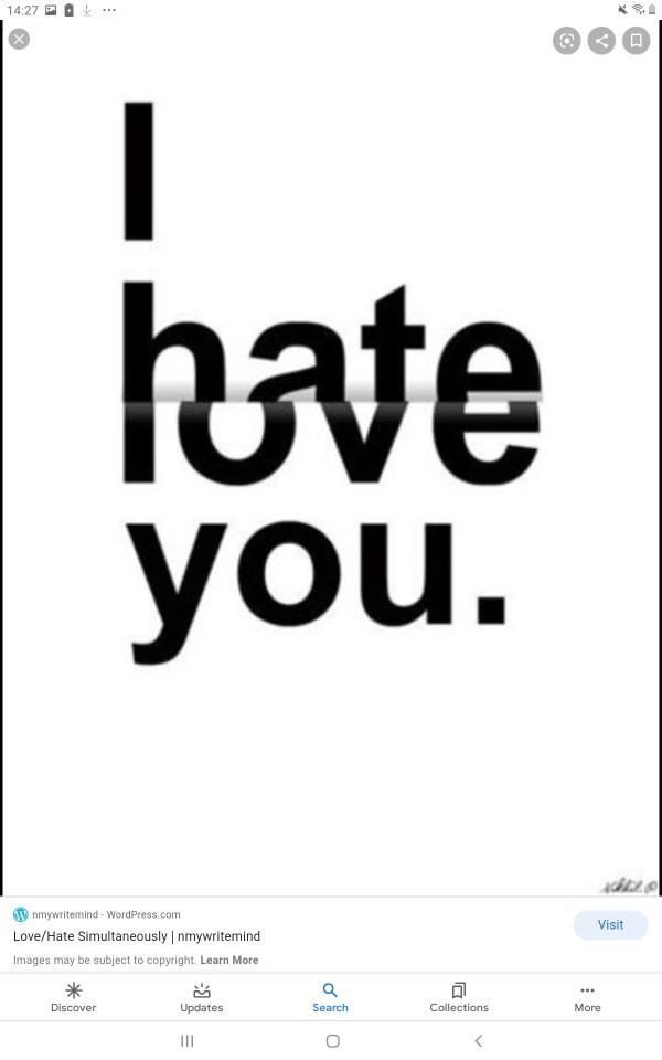 Can you both love and hate someone at the same time?