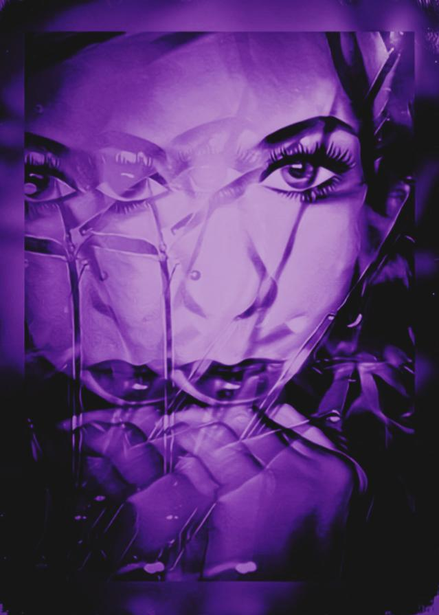 Which piece of purple art fusion photography do you like the best?