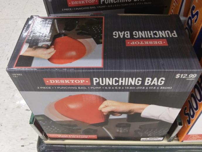 What do you think of a desktop punching bag?