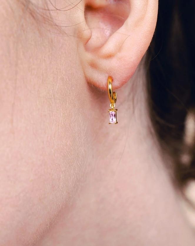 Linear Hoop Earrings