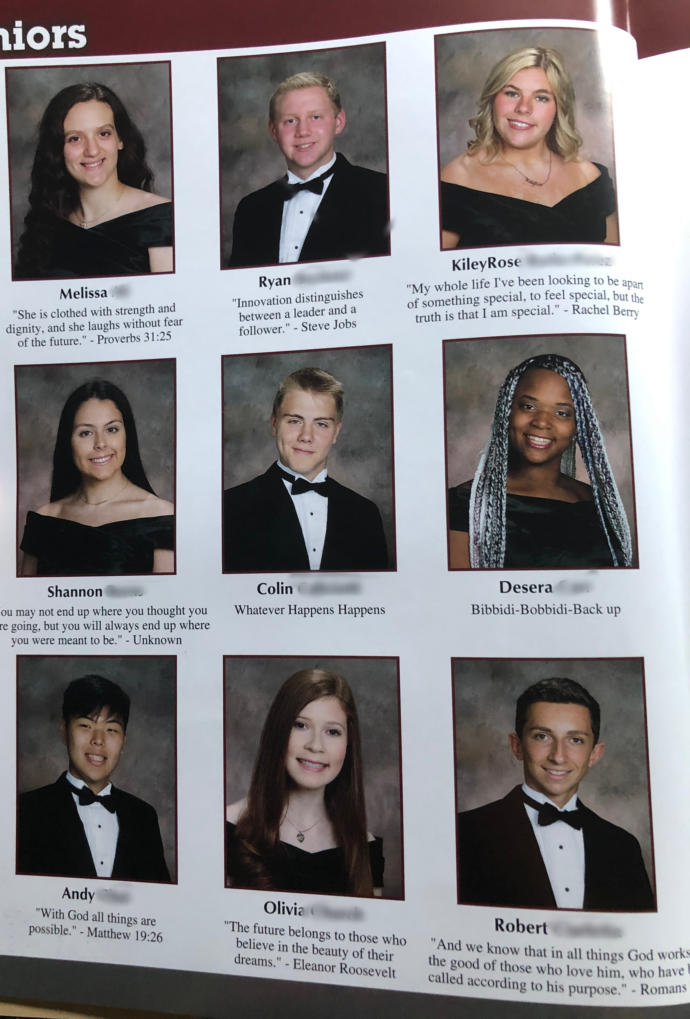 Yearbook pictures and quotes?