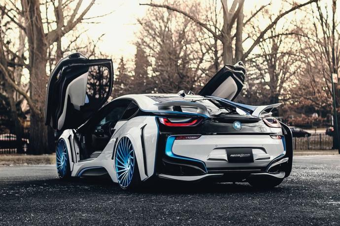 It was tough putting this above other cars, but I love the design of the BMW i8.