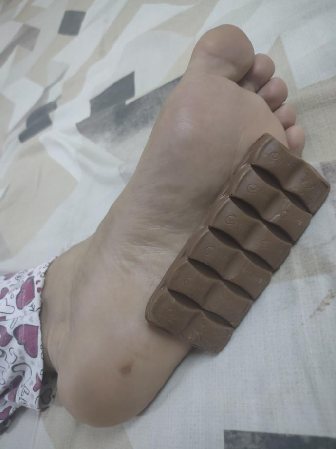 Chocolate started melting on my feet