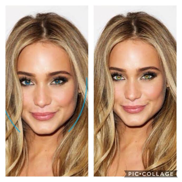 Blonde/green eyes vs blonde/blue eyed! Which one is prettier?
