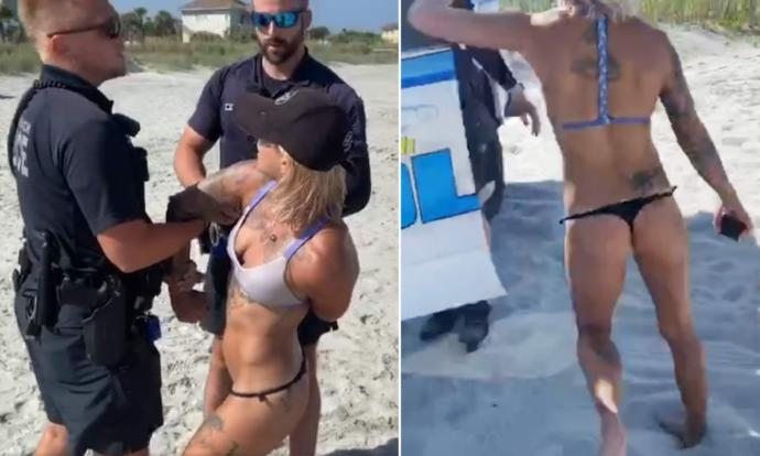 What do you think about this woman who got arrested for wearing a thong bikini?