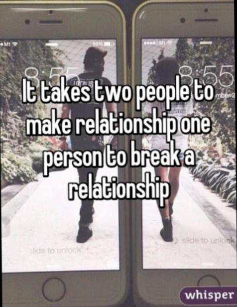 Do You Agree Or Disagree: It Takes Two To Make Or Break A Relationship?
