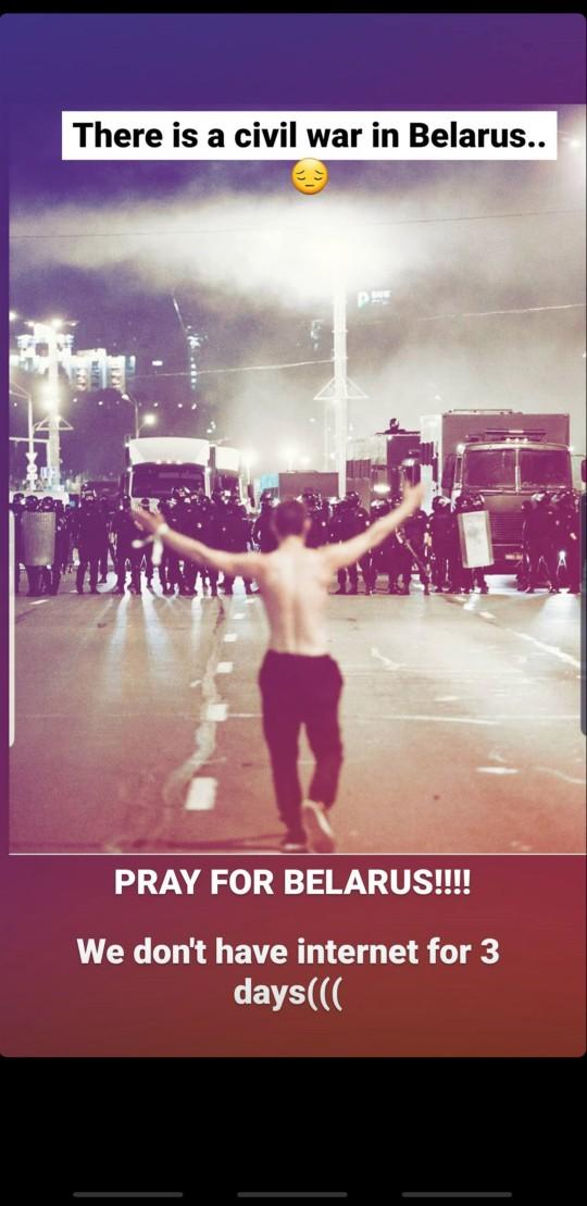 Westerners are your aware of the protests going on Belarus?