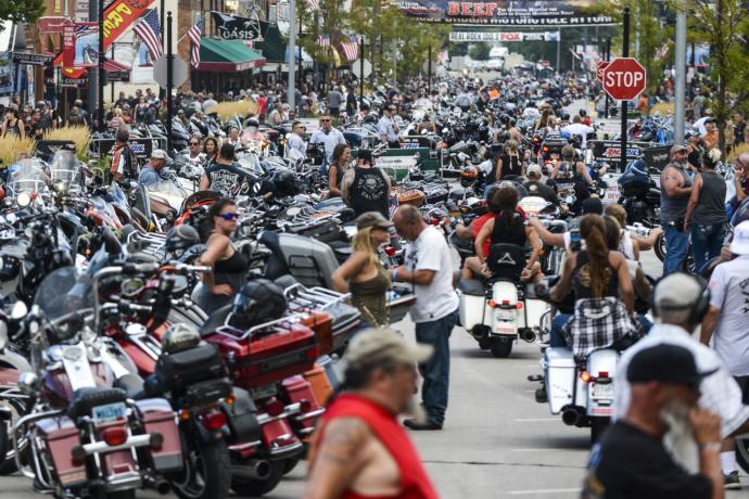 Why does Antifa praise violence against the police, yet they used police for protection at the Sturgis Motorcycle Rally?