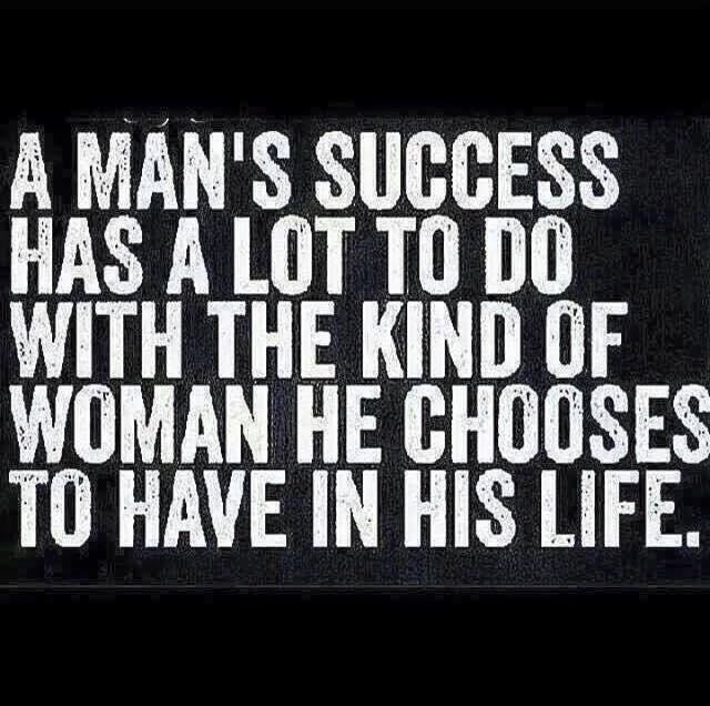 Do you agree with this statement about men success?