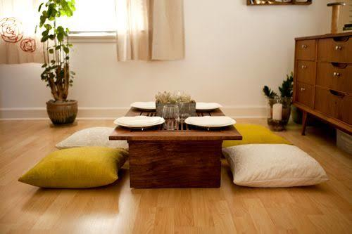 Low dining table