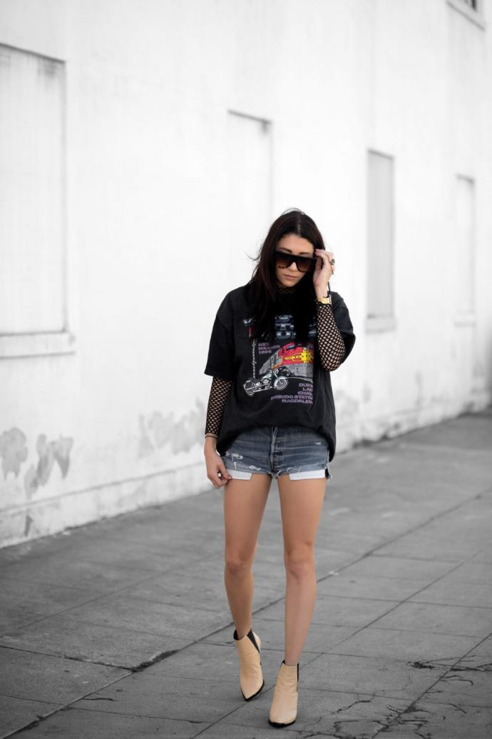 Do you like the fishnet top under a graphic tee style?