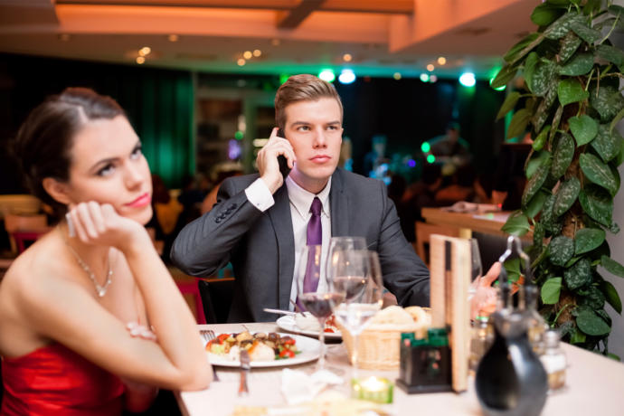 If your first date, a dinner date, was going horribly, what would you do?