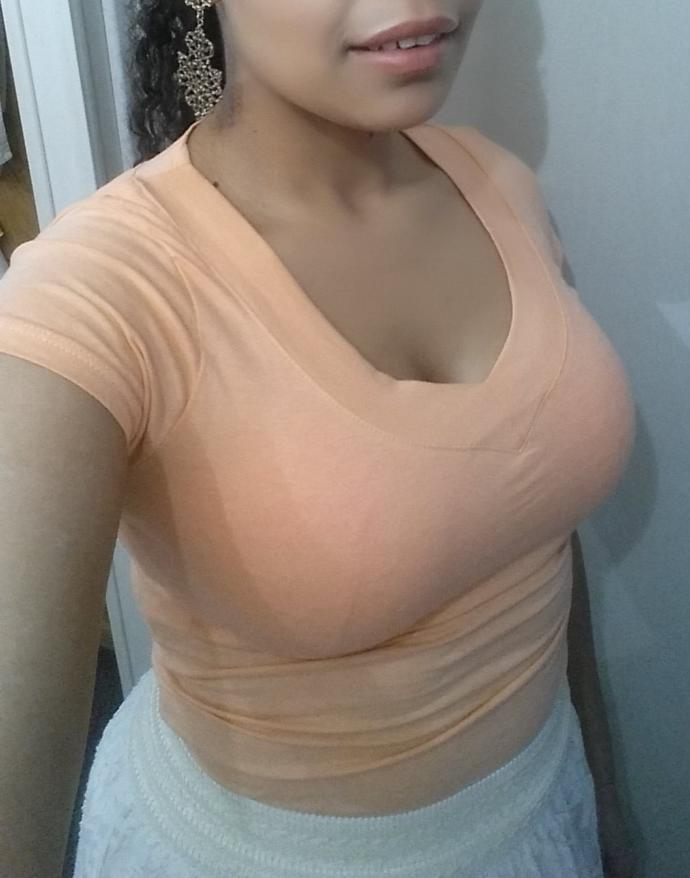 Is showing this much cleavage sexually inviting?