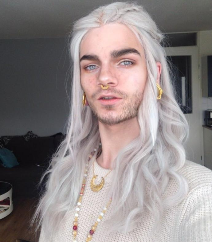 What do you think of long white hair on men?