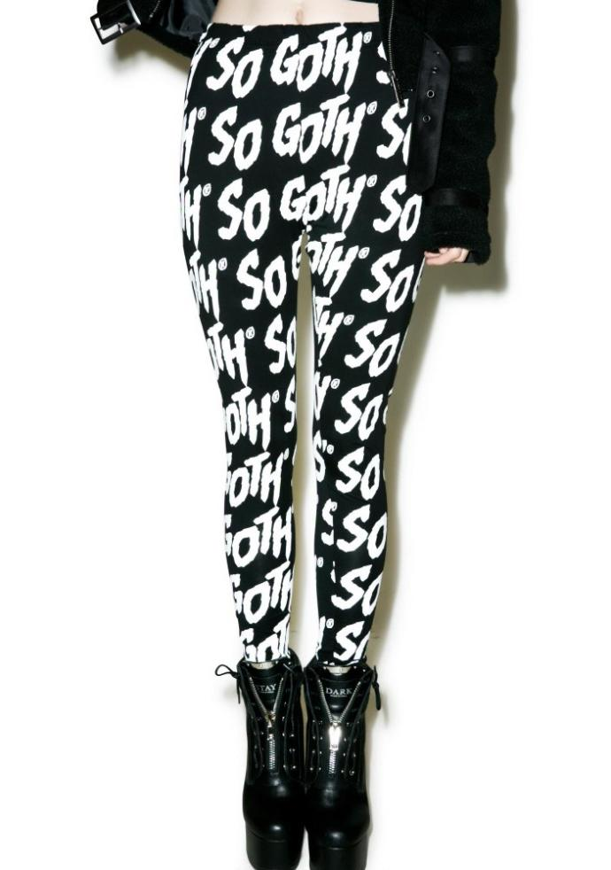 Which pair of goth/emo leggings seems the interesting?