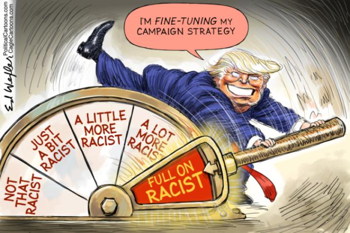 Can Trump win reelection by only running on being a racist?