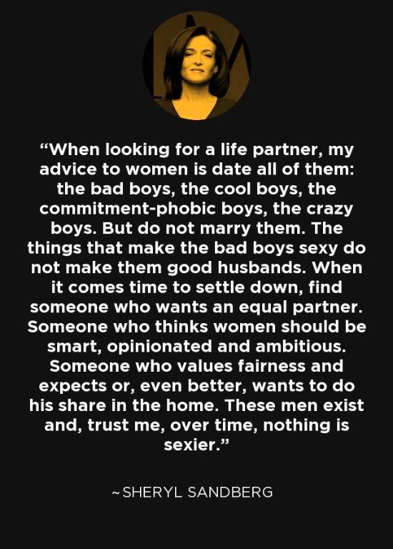 Is she right? I mean I pretty much see all the other men hooking up constantly so theres no benefit to be wait for good guy and miss out crazy sex?
