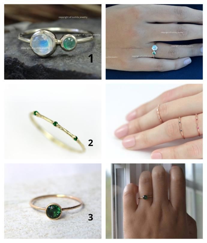 Emerald stone: Which of these pieces would look nicer for daily wearing?