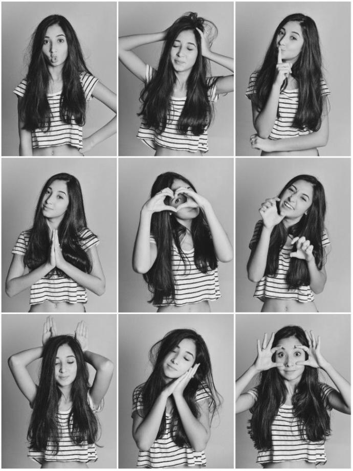 Are these poses cute to you? would you do them in front of the camera?
